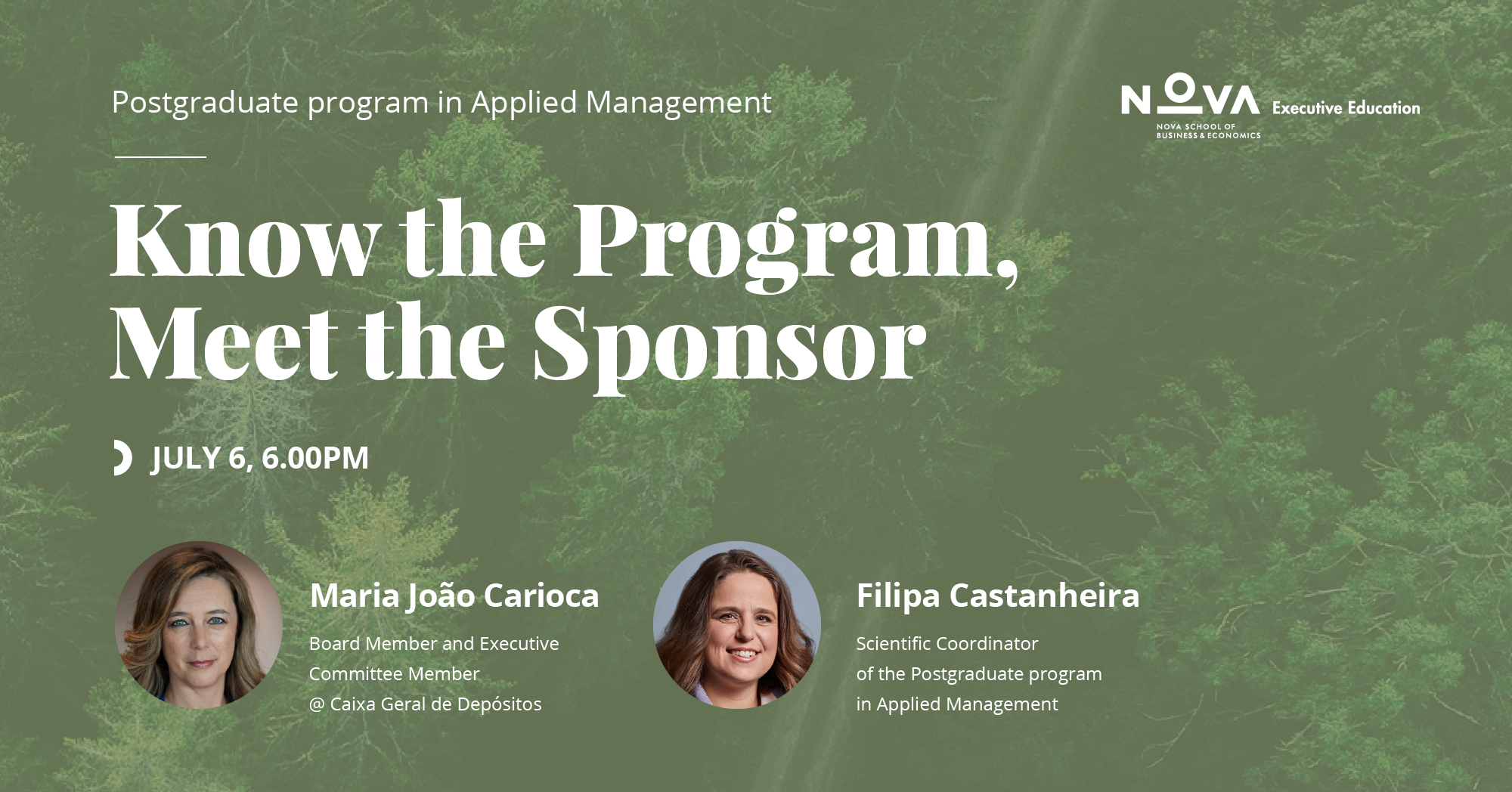 Know the Program, Meet the Sponsor: Maria João Carioca