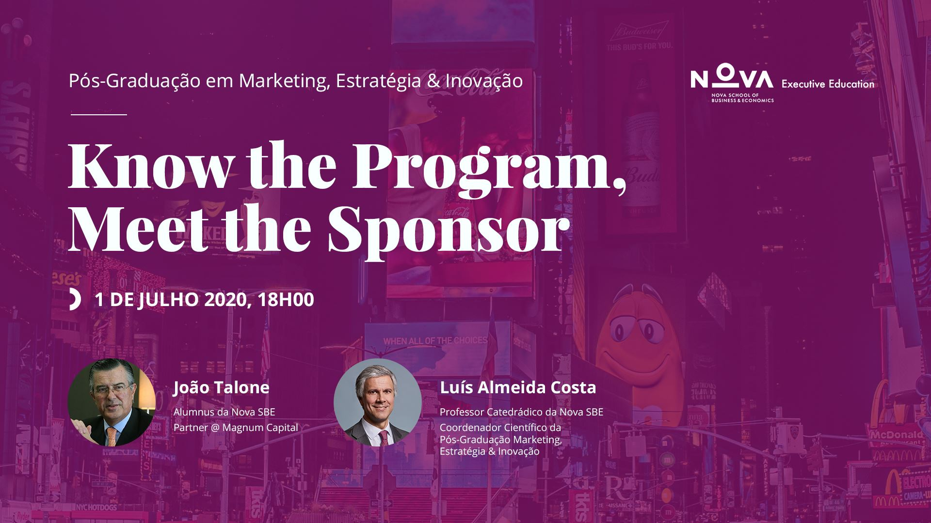 Know the Program, Meet the Sponsor: João Talone