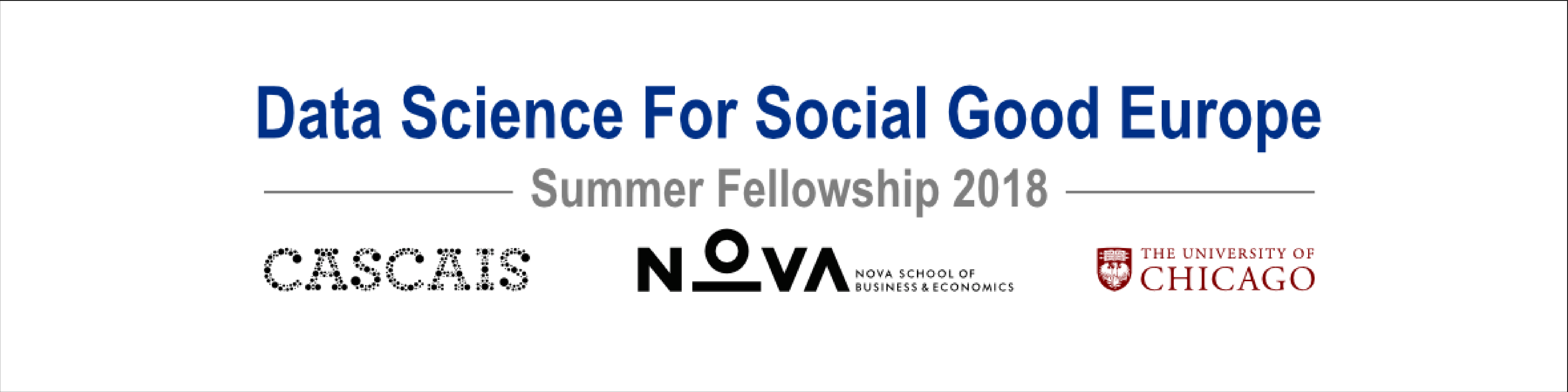 Final presentations of the 2018 Summer Fellowship Program of Data Science for Social Good Europe