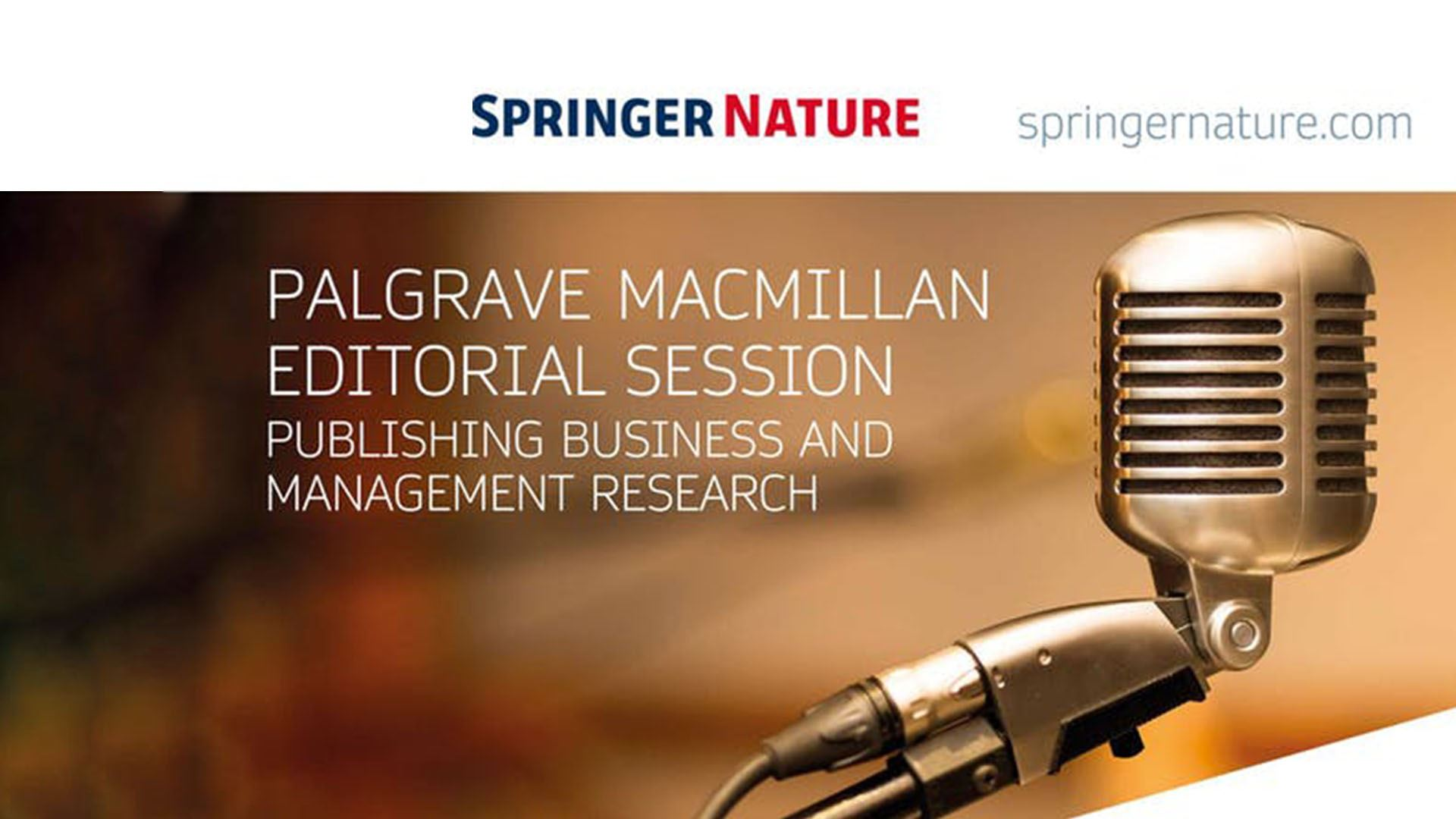 Palgrave MacMillan | Seminário Business and Management Research