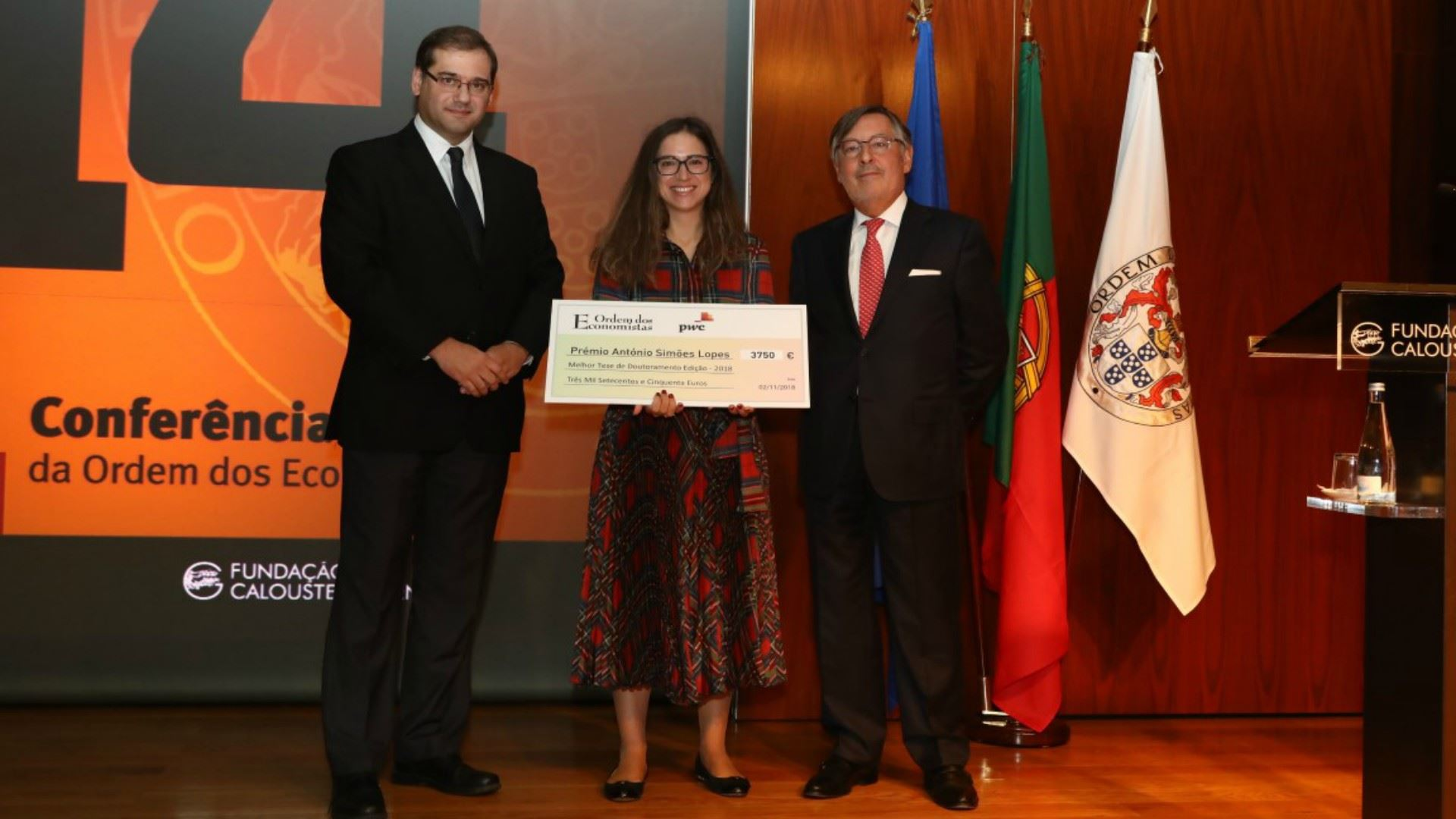 Member of Nova SBE's Research Unit was awarded the António Simões Lopes award 2018