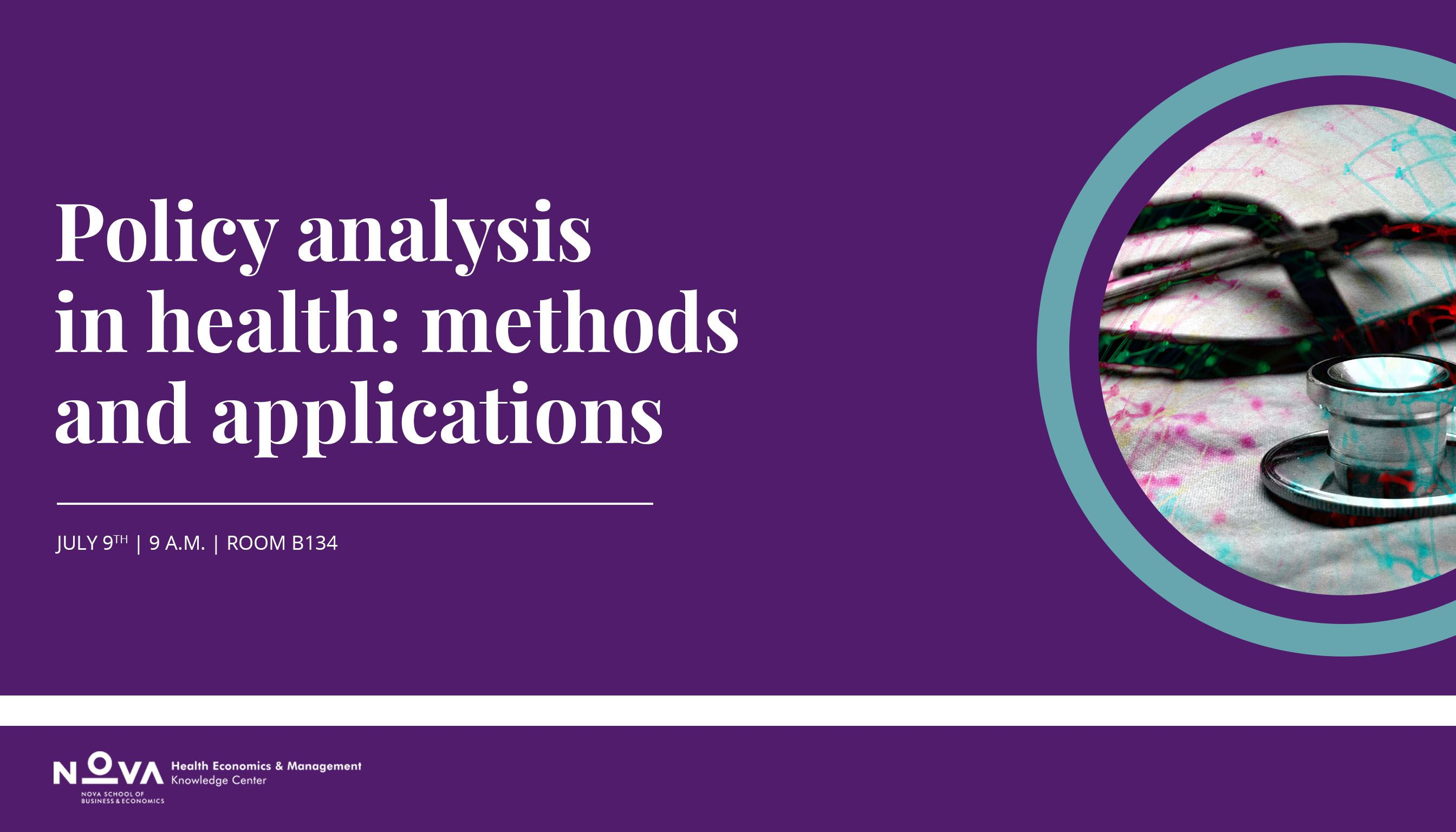 Policy analysis in health: methods and applications